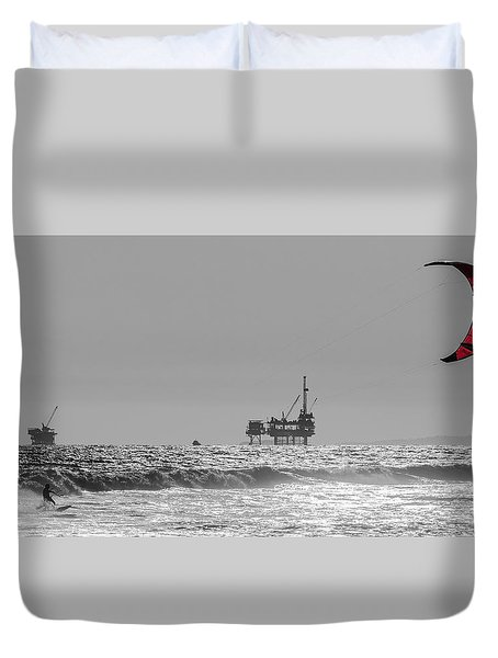 Wave And Wind Energy Are More Fun Duvet Cover