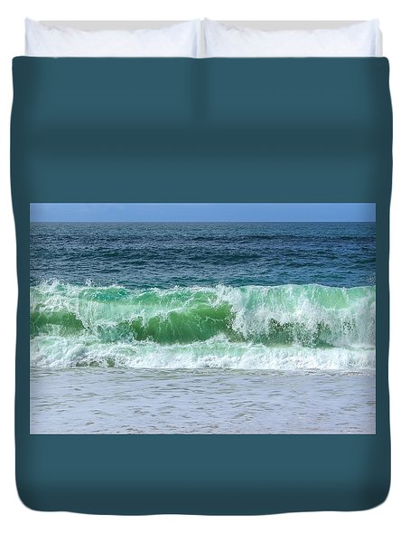 Wave  Duvet Cover by Claire Whatley