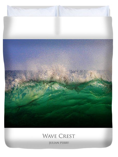 Duvet Cover featuring the digital art Wave Crest by Julian Perry