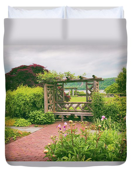 Wave Hill Respite Duvet Cover by Jessica Jenney