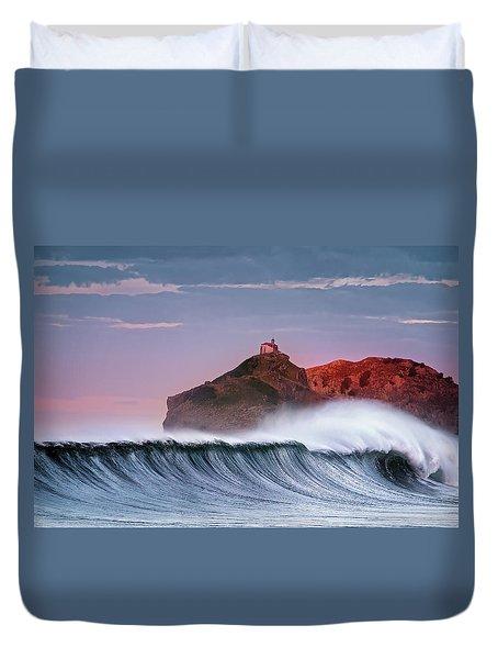 Wave In Bakio Duvet Cover
