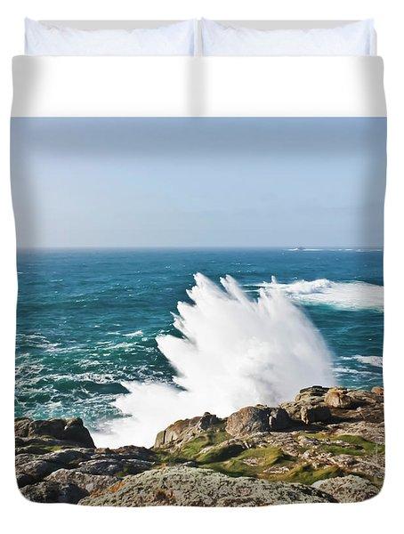 Wave Like Quartz Duvet Cover by Terri Waters
