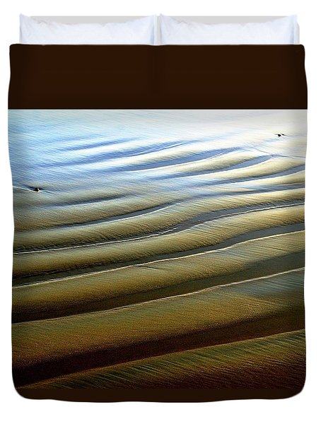Wave Patterns At Drake's Beach, Point Reyes National Seashore Duvet Cover