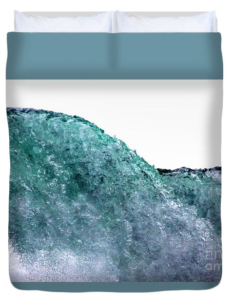 Duvet Cover featuring the photograph Wave Rider by Dana DiPasquale