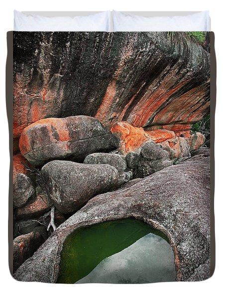 Wave Rock Duvet Cover