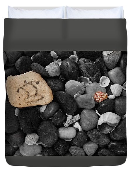 Wave Rocks Duvet Cover