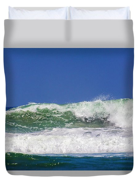 Wave Rolling To The Beach Duvet Cover