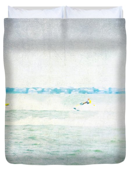 Wave Runners Duvet Cover