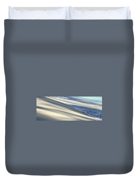 Wave Shadows Duvet Cover by Suzanne Oesterling