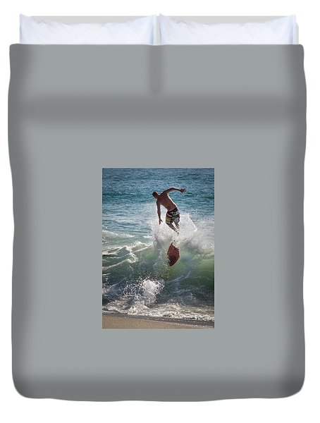 Wave Skimmer Duvet Cover by Jim Gillen