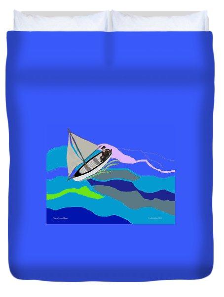 Wave Tossed Boat Duvet Cover