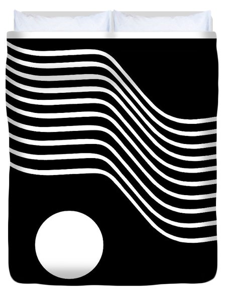 Waved Abstract Duvet Cover