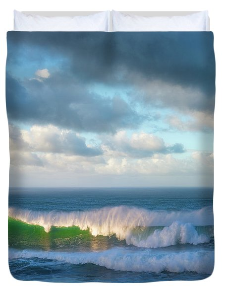 Duvet Cover featuring the photograph Wave Length by Darren White