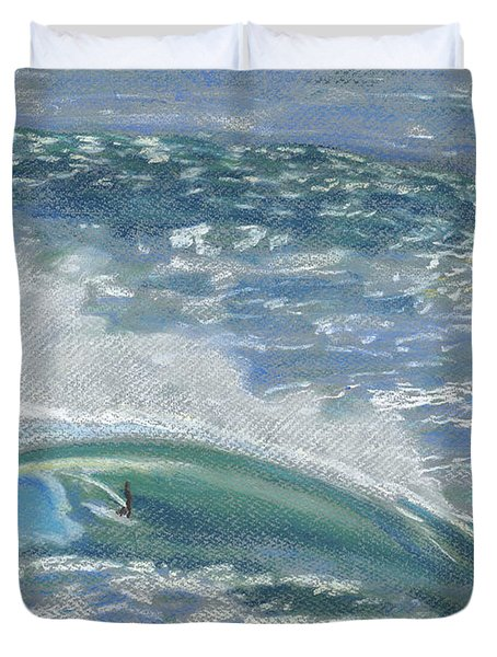 Waverider Duvet Cover by Patti Bruce - Printscapes