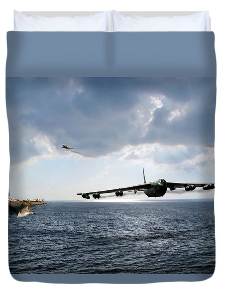 Waverunner Duvet Cover by Peter Chilelli