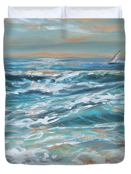 Waves And Wind Duvet Cover