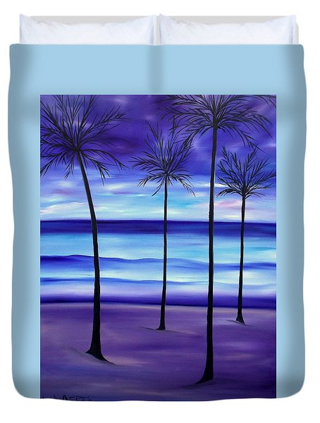 Waves At Twilight Duvet Cover