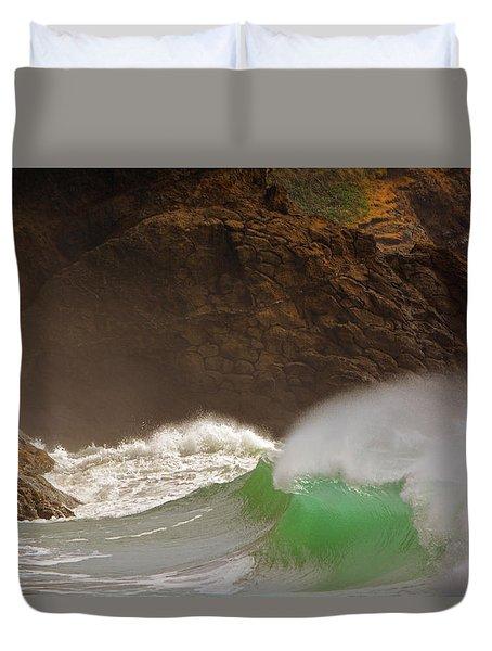 Waves At Waikiki Duvet Cover