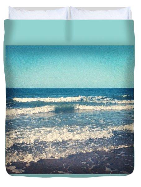 #waves #blue #water #ocean #beach Duvet Cover