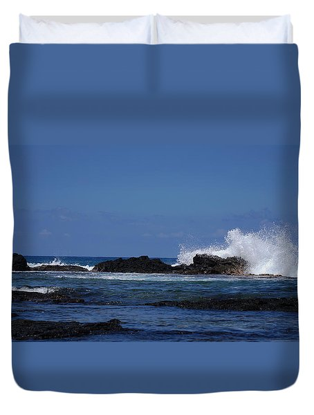 Waves Crashing Duvet Cover by Pamela Walton