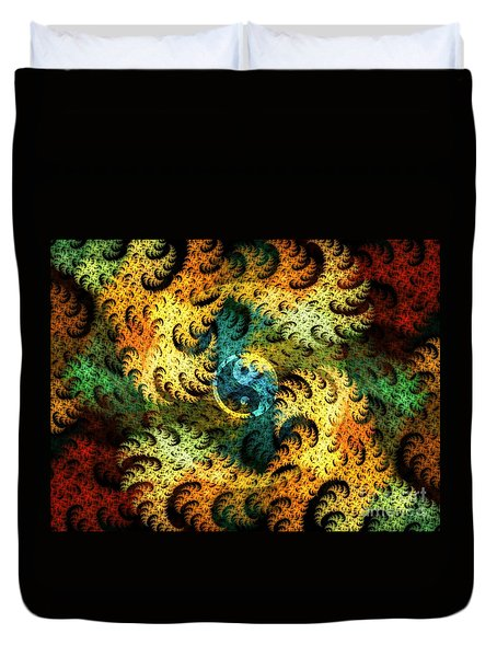 Duvet Cover featuring the digital art Waves Of Change by Michal Dunaj