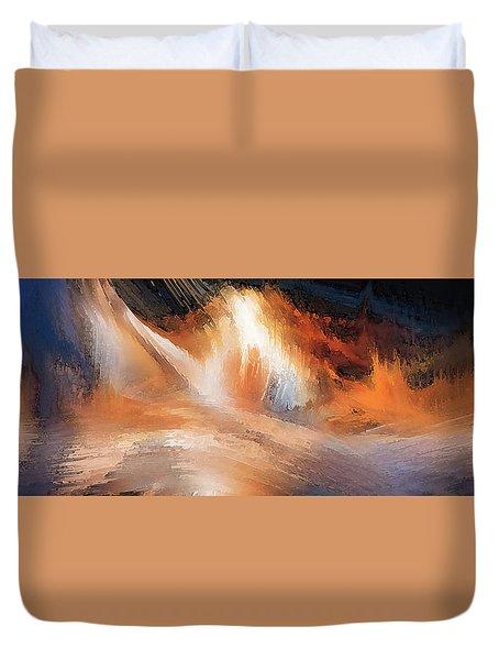 Waves Of Light Duvet Cover