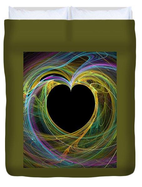 Duvet Cover featuring the digital art Waves Of Love by Kathleen Sartoris