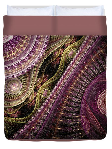 Waves Of Time Duvet Cover