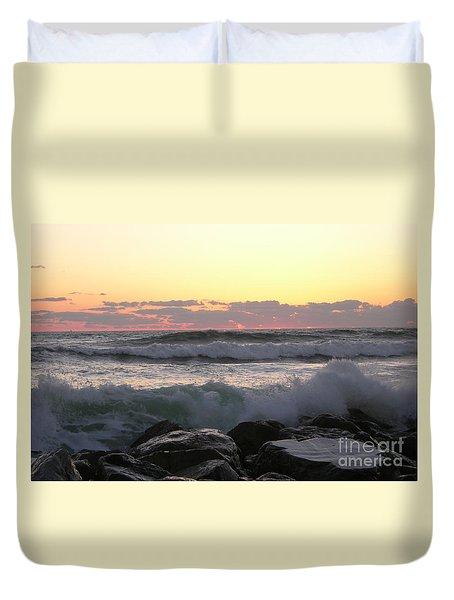 Waves Over The Rocks  5-3-15 Duvet Cover