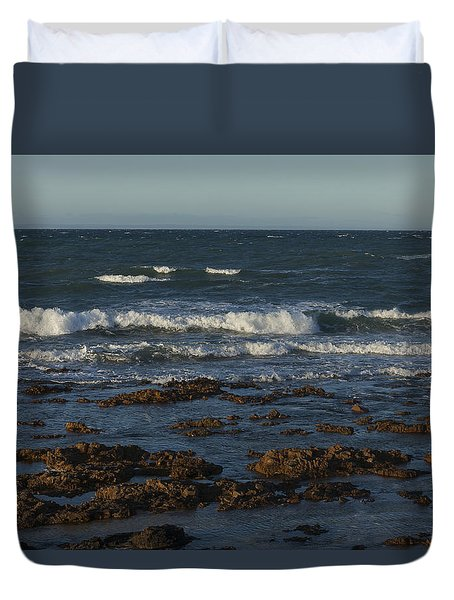 Waves Rolling Ashore Duvet Cover