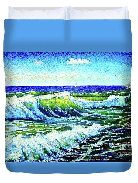 Waves Duvet Cover by Viktor Lazarev