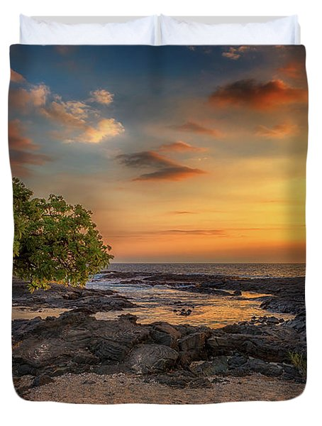 Wawaloli Beach Sunset Duvet Cover