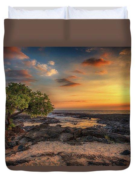 Wawaloli Beach Sunset Duvet Cover