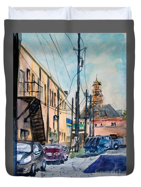 Waxahachie Back Alley Duvet Cover