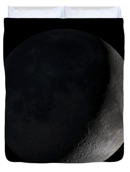 Duvet Cover featuring the photograph Waxing Crescent Moon by Stocktrek Images