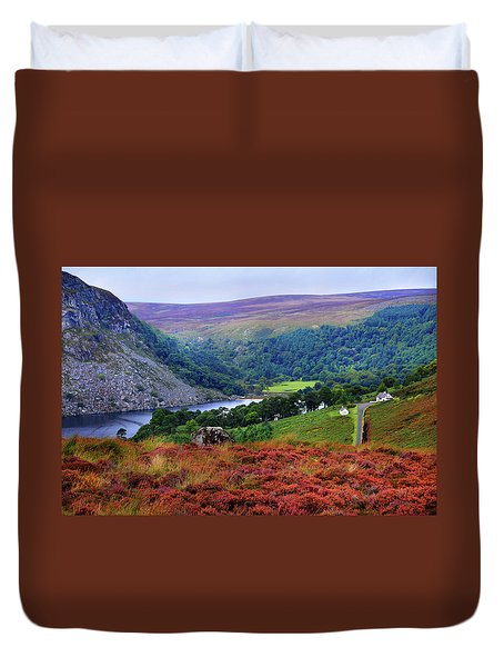 Duvet Cover featuring the photograph Way Home. Wicklow. Ireland by Jenny Rainbow