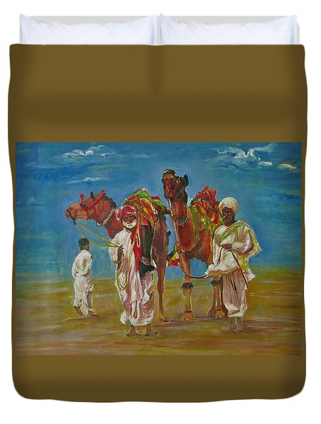 Way Of Life Duvet Cover by Khalid Saeed