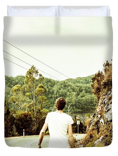 Way Of Old Travel Duvet Cover