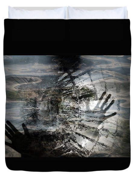 Duvet Cover featuring the photograph Way Out  by Danica Radman