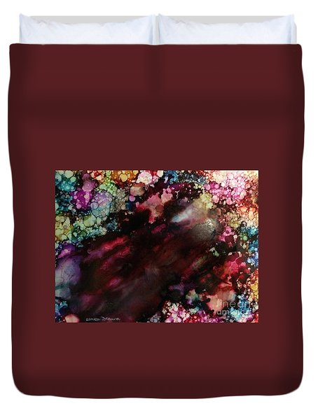 Duvet Cover featuring the painting Way Out by Denise Tomasura
