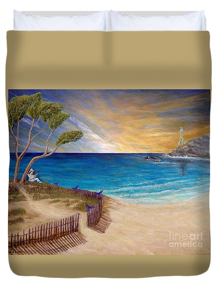 Way To Escape Duvet Cover by Kimberlee Baxter