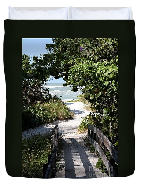Way To The Beach Duvet Cover by Christiane Schulze Art And Photography