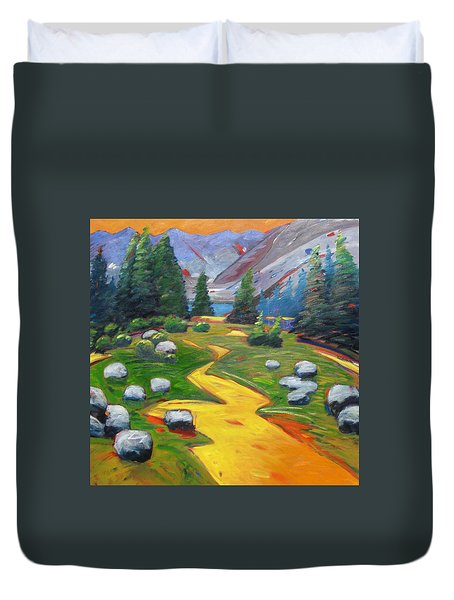 Way To The Lake Duvet Cover by Gary Coleman