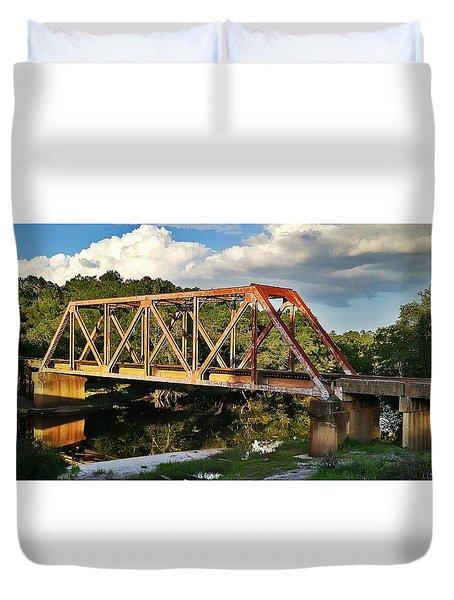 Waycross Trestle Bridge Duvet Cover