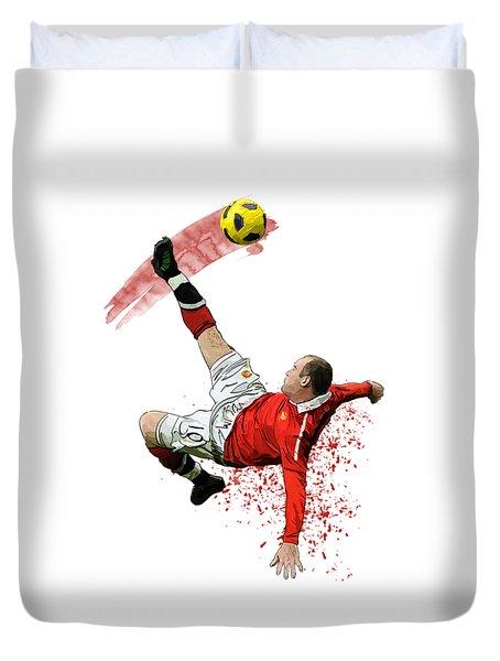 Wayne Rooney Duvet Cover by Armaan Sandhu