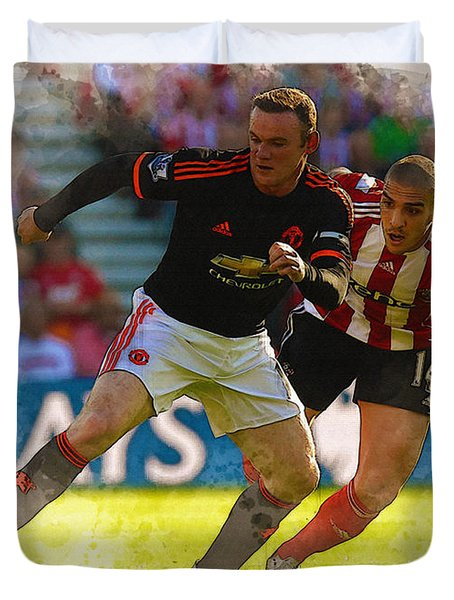 Wayne Rooney Is Marshalled Duvet Cover by Don Kuing