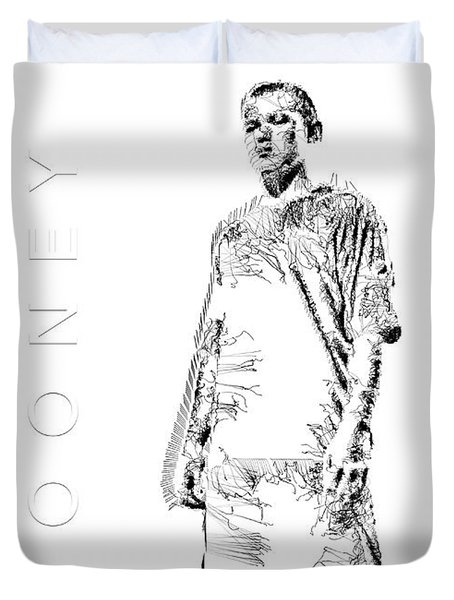 Wayne Rooney Duvet Cover by ISAW Gallery