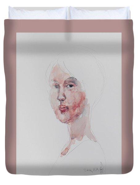 Wc Mini Portrait 1             Duvet Cover by Becky Kim