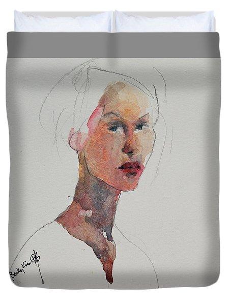 Wc Mini Portrait 2 Duvet Cover by Becky Kim