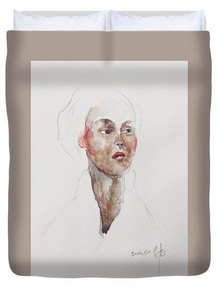 Wc Mini Portrait 4             Duvet Cover by Becky Kim